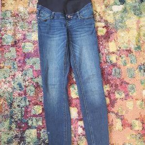 Thyme maternity stretchy skinny jeans sz XS